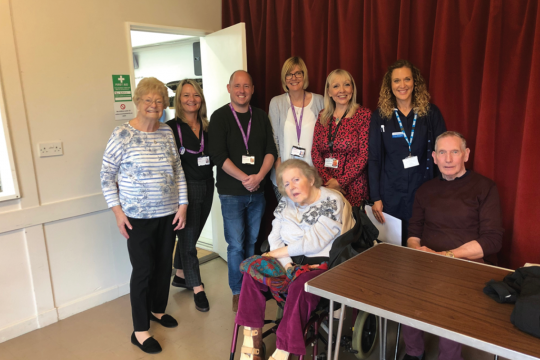 Photo of volunteers, staff and members at the health and wellbeing hub in Perranaworthal and