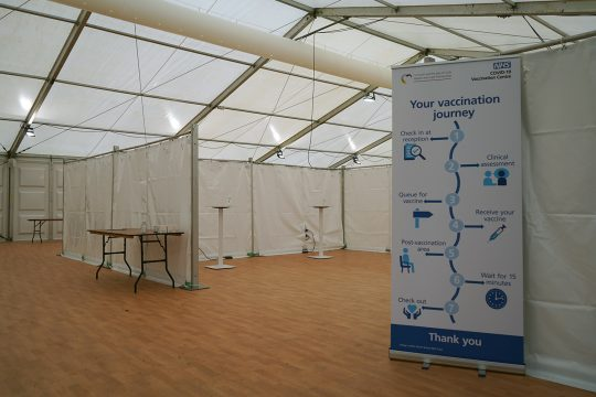 COVID-19 vaccinations to get underway at Stithians Showground